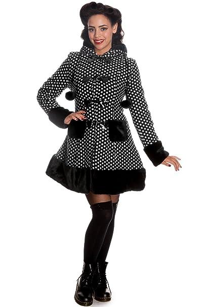 Hell Bunny Mika Coat - Abrigo corto negro L: Amazon.es: Ropa y accesorios
