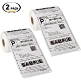 """[2 Rolls, 440 Labels] Dymo 4XL Labels Compatible 1744907 4"""" x 6"""" for Dymo 4XL LabelWriter"""