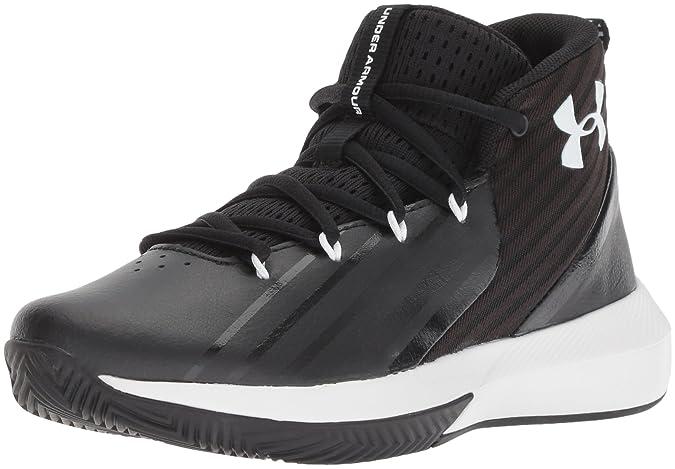 Amazon.com   Under Armour Boys Grade School Launch Basketball Shoe, Black (002)/White, 3.5   Basketball
