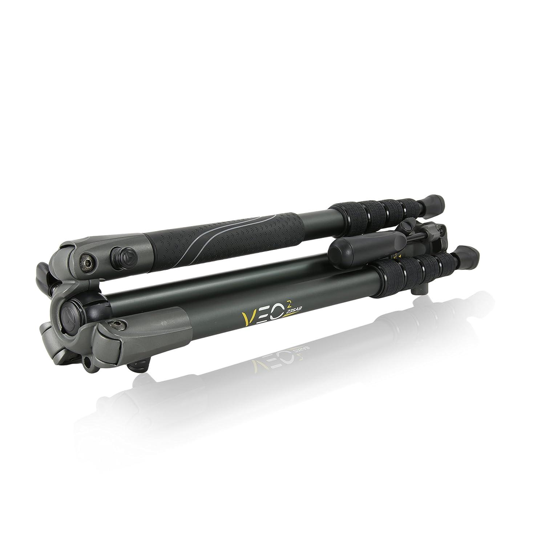 Tr/ípode de viaje de aluminio con r/ótula de paneo color negro Vanguard VEO 235AP