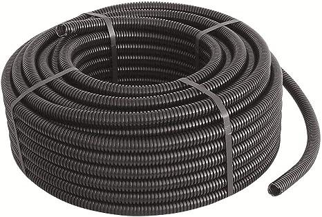 Tubo Corrugado PVC Flexible M-16 100 m Negro BeMatik