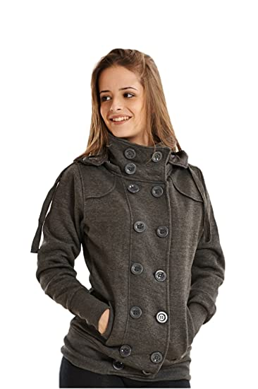 PARSA FASHIONS - Chaqueta - para mujer gris gris oscuro S ...