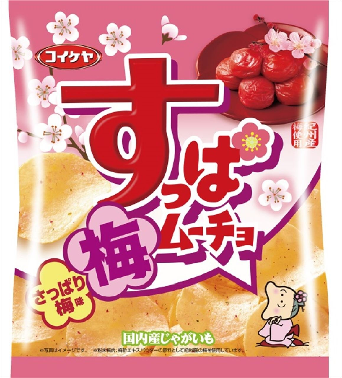 Mucho Mizuumichiya agria patatas fritas refrescante ciruela ...
