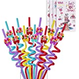 Reusable Candy Straws-Plastic Drinking Straws for Kids Birthday Party Decorations-Theme Birthday Party Supplies -Set of 24(20