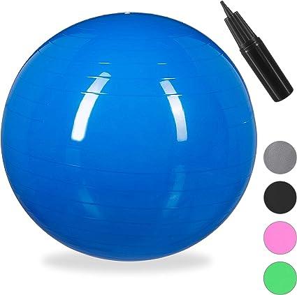 Relaxdays Balón para Ejercicios de Fitness, Pelota de Pilates ...