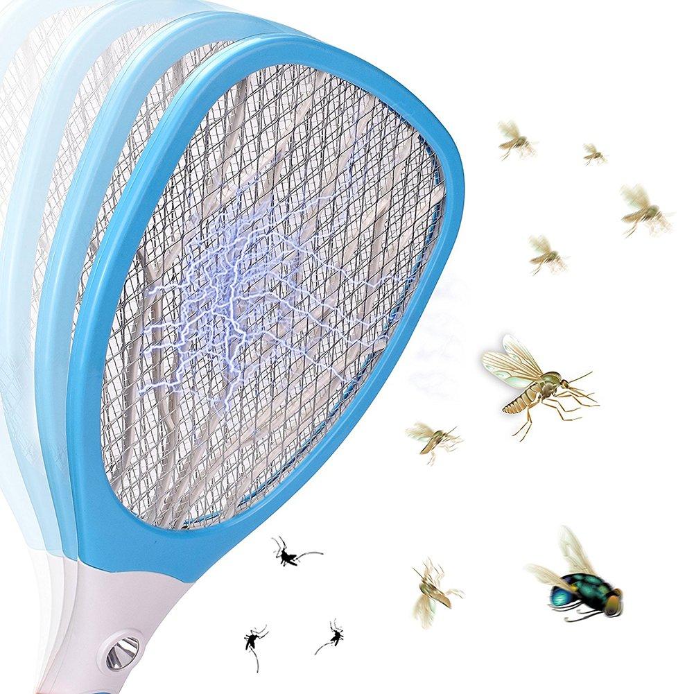 d72229de938df3 Tofree  électrique Bug Zapper Batterie Tapette Raquette Tue-Mouches,  Chargement USB avec Batterie 500  mAh ...