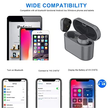Amazon.com: Asdf Bluetooth Headset with Charging Box Wireless Headphones Sweat-Resistant, Waterproof, Suitable for Sports, Running, Gym Headphones: ...