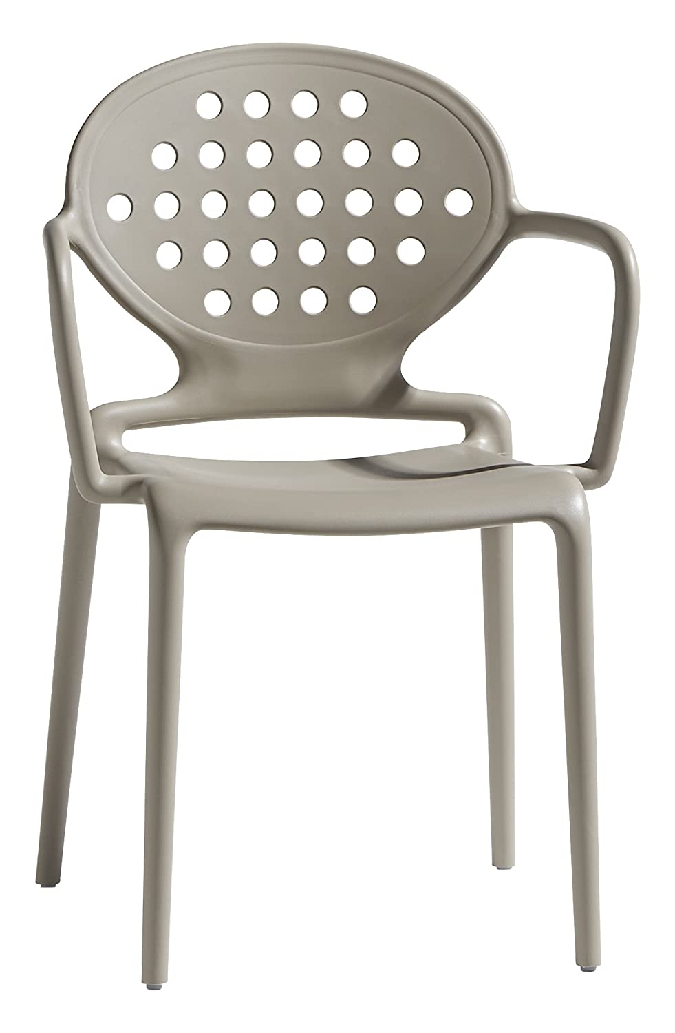Grey Parada One Design 2284 15 Colette Modern Indoor//Outdoor Stackable Dining Chair
