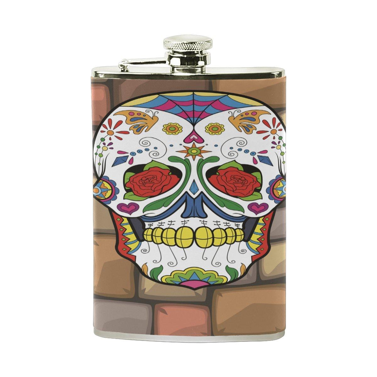 【即納】 Space Skull Ghostヒップフラスコ8オンススチールポケットボトルセットレザーWrapped Flasks Shot Leak Proof ForメンズレディースLiquor Shot Drinking Cute 15.6cm*9.6cm (H*L) FENNEN-10 Cute Skull B07CNH39M3, 生地手芸のユザワヤ3号館-卸販売:1f2b3339 --- a0267596.xsph.ru