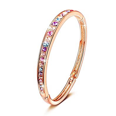 Amazoncom BRILLA Mothers Day Gifts for Women Bracelet Rose Gold