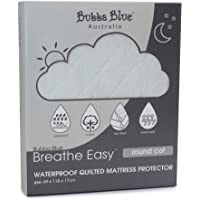 Bubba Blue Breathe Easy Waterproof Quilted Round Cot Mattress Protector, White