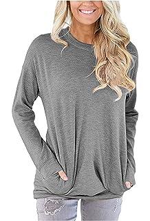 Phoenix/_us WLLW Women Rainbow Graphic Print Good Vibes Shirt Pockets Tops Blouse Sweatshirt