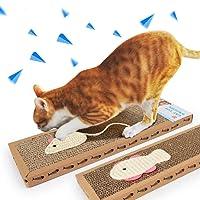 Kitten Scratching Post Cat Scratcher Handmade Interactive Toys for Cat Training Pet Cat Toys (Set of 2)