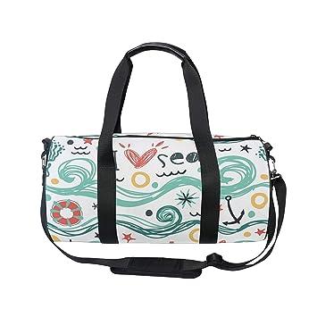 70ad12cbfd23 Gym Bag I Love Sea Women Yoga Canvas Duffel Bag Cute Sports Bag for ...
