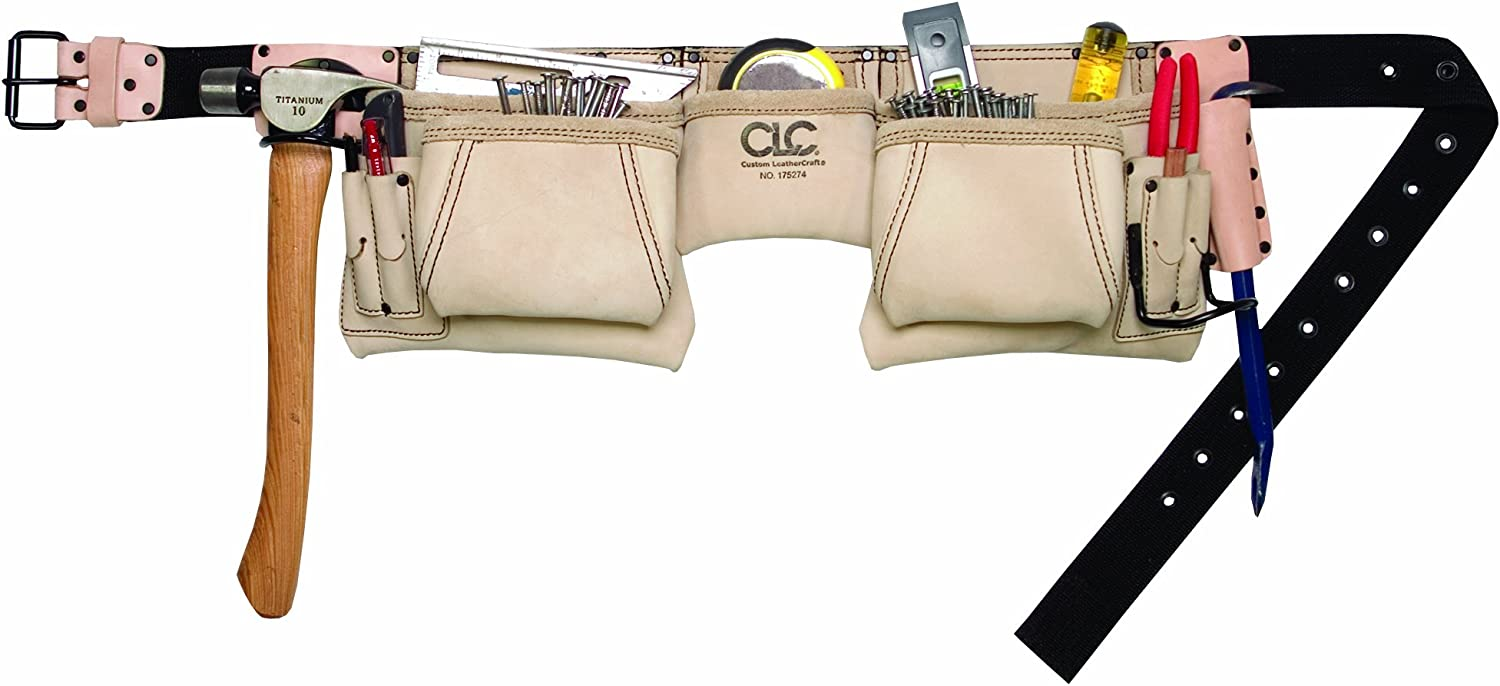 NEW CUSTOMER LEATHERCRAFT CLC 1604 17 POCKET POLY TOOL APRON POUCH 2821106