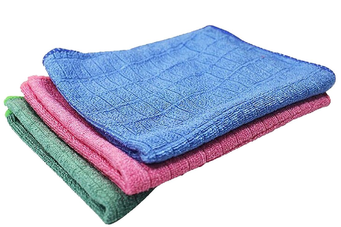 XINHE Set of 3 Antibacterial Durable No Oil Tidy Rags Microfiber 3040cm for Kitchens Versatile Kitchen Dish Towels AS1 by XINHE (Image #1)