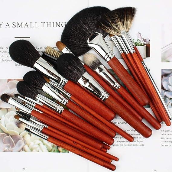 Set De Pinceles De Maquillaje, Beauty Blush Eye Shadow Lip Brush, Pincel De Maquillaje De Madera De Alta Calidad De 26 Piezas - Con Bolsa: Amazon.es: ...