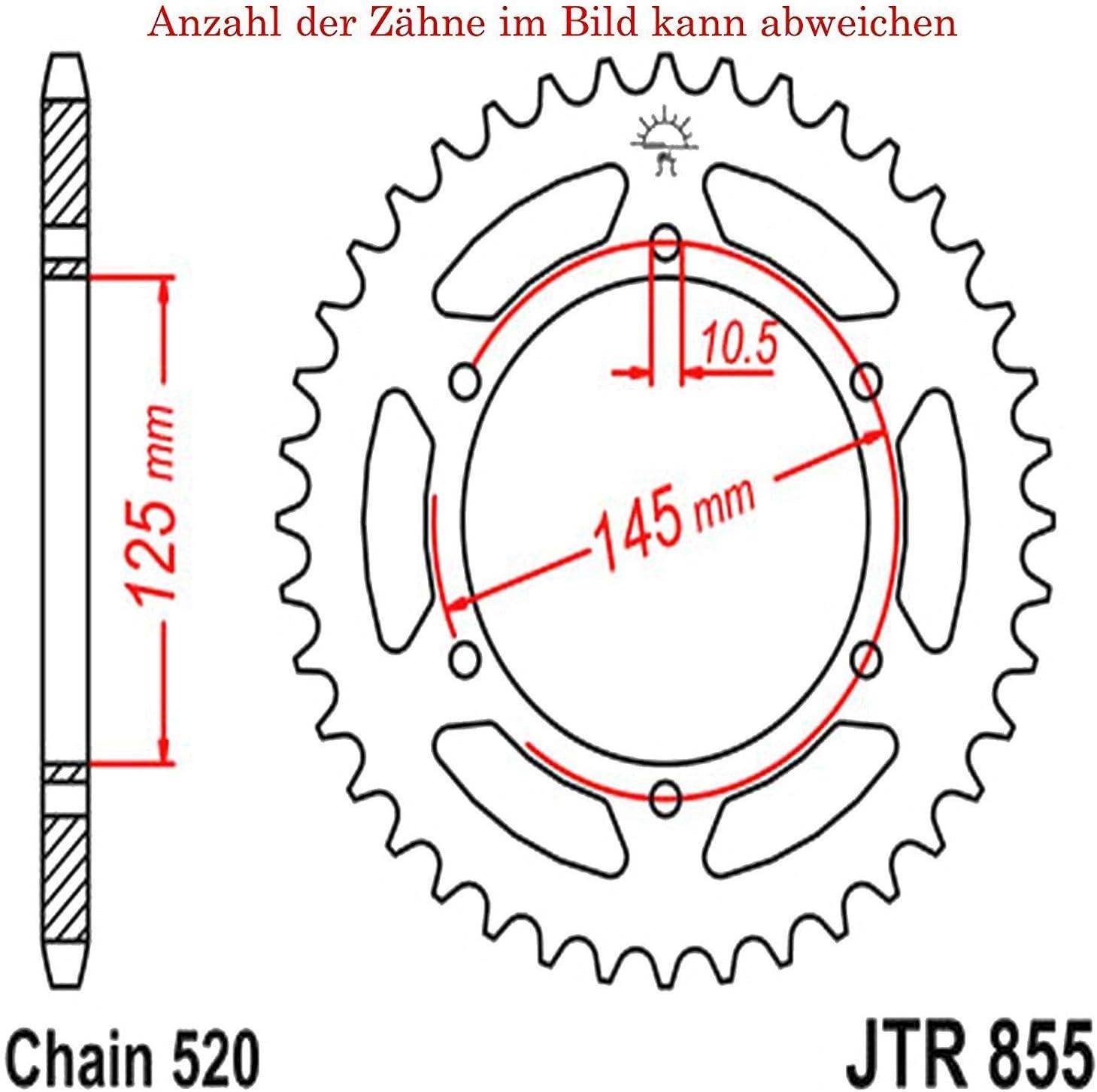Kettenrad mit 47 Z/ähnen f/ür XT 660 X 2004-2016 von jt-Sprockets