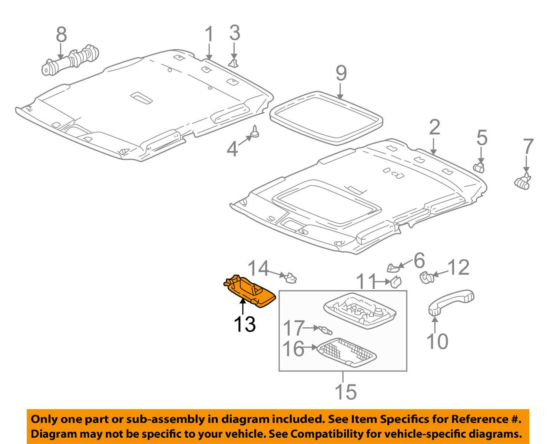 Honda Genuine 83280-S84-A13ZB Sun Visor Assembly Left