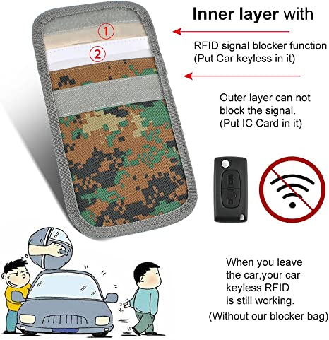 Hulier 2 Pcs Keyless Go Protection for Car Keys//Credit Cards /& Bank Cards//Prevent Theft of Your Car Key Case RFID//NFC//WLAN//GSM//LTE Blocker