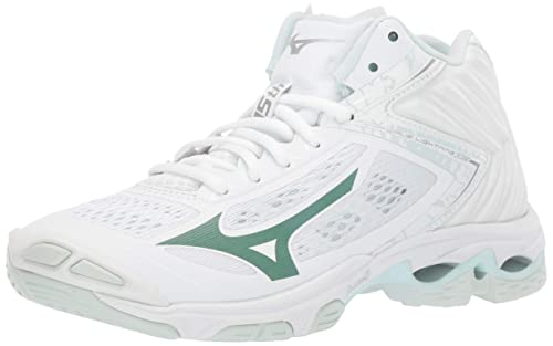 Mizuno Women's Wave Lightning Z5 Volleyball Shoe, white, 9 B US