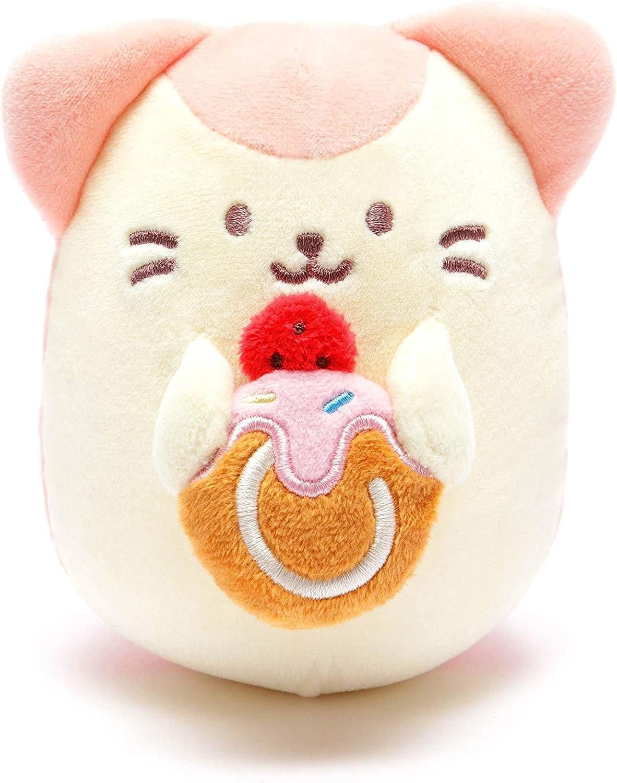 Anirollz Food Plush Stuffed Animal Kitty Toy Strawberry Cake Squishy Mini Ball Kittiroll