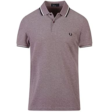 Fred Perry Hombres Polo con Doble Punta m3600 H35 S Shiraz Snow ...
