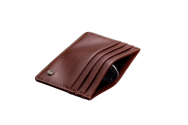 Cronus & Rhea®   Luxus Kartenhalter aus exklusivem Leder (Argos)   Kartenetui - Kreditkartenetui - Kartenhülle - Ausweishülle   Echtleder   Mit eleganter Geschenkbox   Herren - Damen (Cognac)