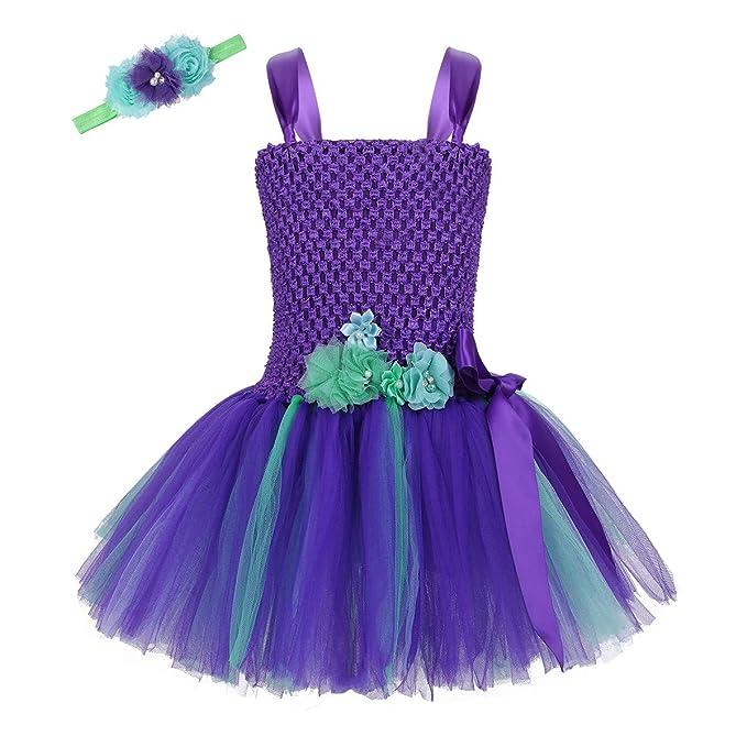 Amazon.com: DPois - Disfraz de sirena para Halloween, fiesta ...