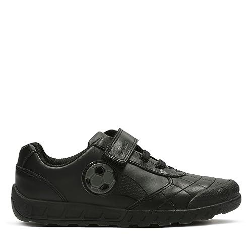 7ec94f565f3d Clarks Leader Game Infant Leather Shoes in Black Standard Fit Size 10