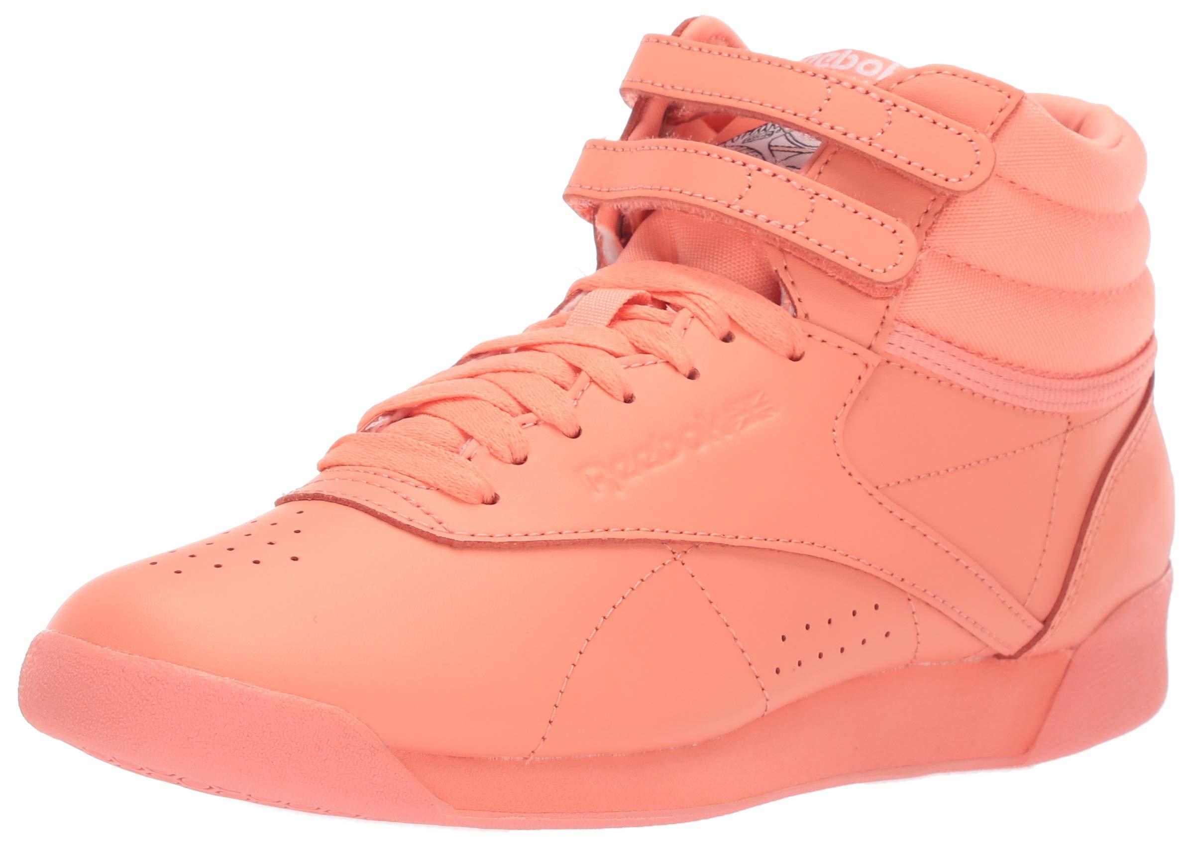 54d99ab76f Reebok Women's Freestyle Hi, Stellar Pink/White, 9 M US