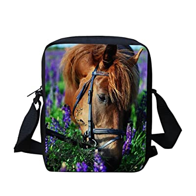 Cool Horse Messenger Bag School Bag for Hiking Cycling