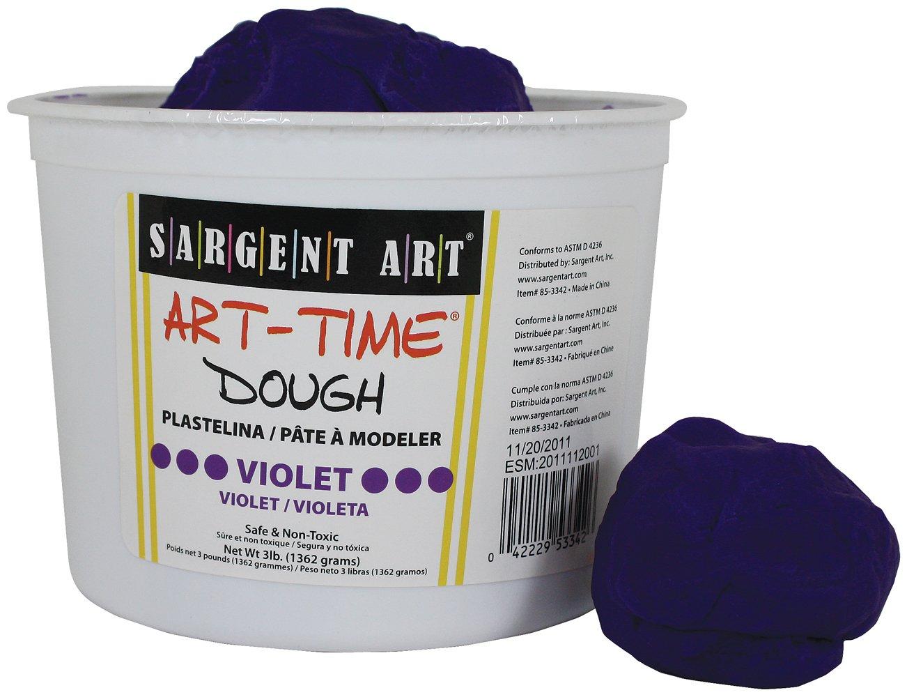 Sargent Art 85-3342 3-Pound Art-Time Dough, Violet