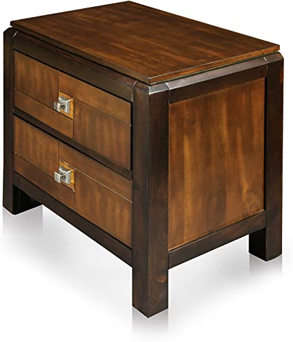 HOMES: Inside Out ioHOMES Cleo 2-Tone 2-Drawer Nightstand