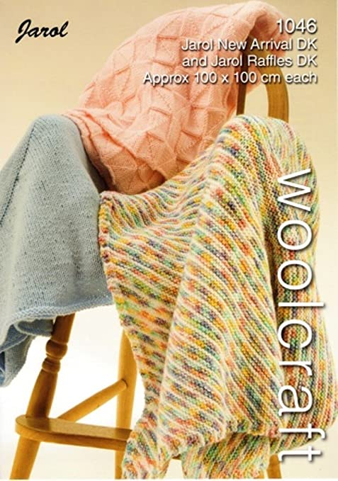 Woolcraft Branded Knitting Pattern For Baby Blankets 100cm X 100cm