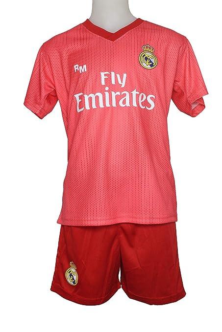Kit Infantil Real Madrid Réplica Oficial Licenciado de la Tercera Equipación Temporada 2018-19 Sin Dorsal: Amazon.es: Deportes y aire libre