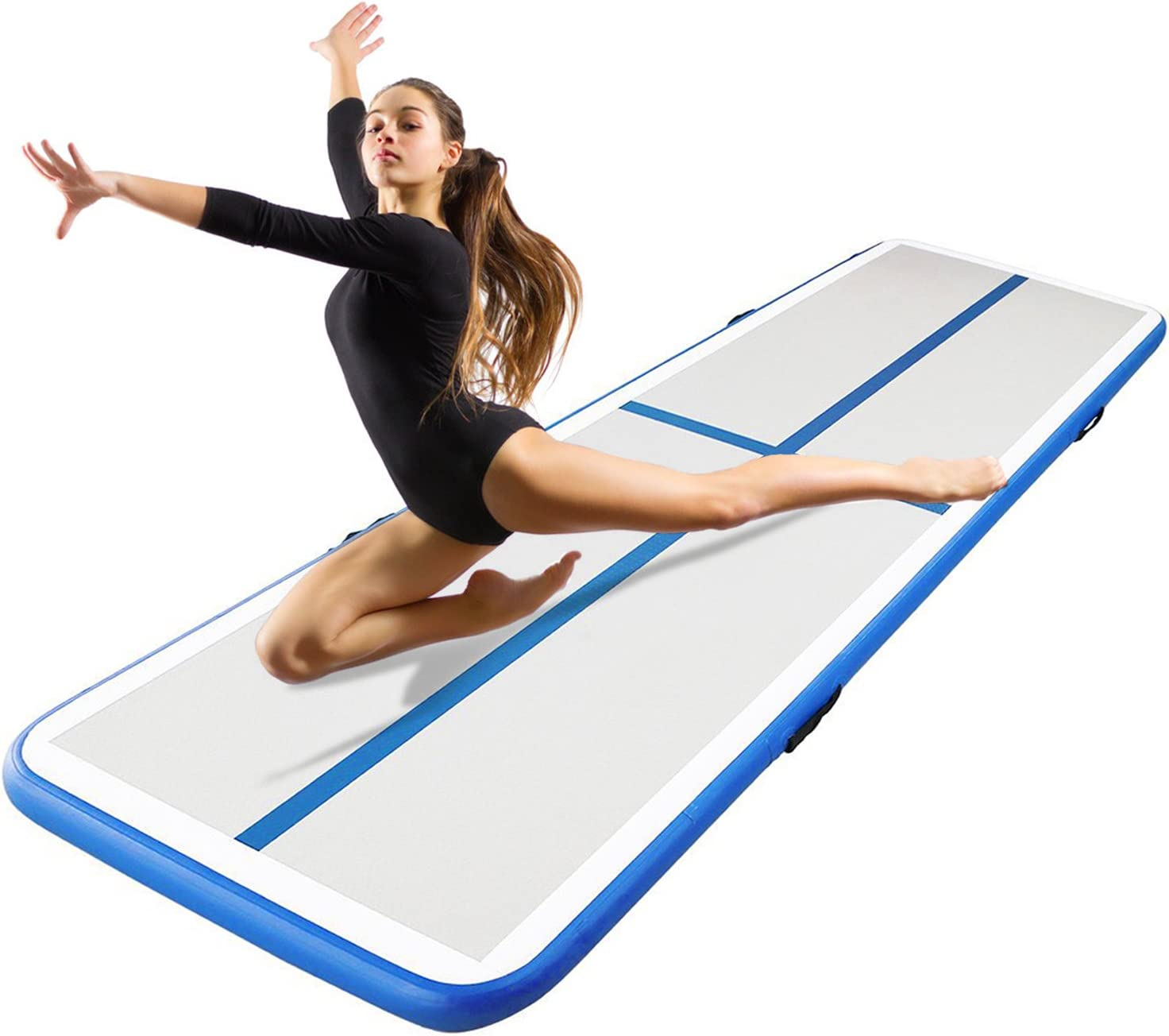 Aufblasbare Gymnastikmatte f/ür Gym//Yoga//Training//Kinder//Tumbling//Park//Home Use,Blau,200x100x10cm Taekwondo Somersault Luftkissen F-JX Airtrack Tumbling-Matte