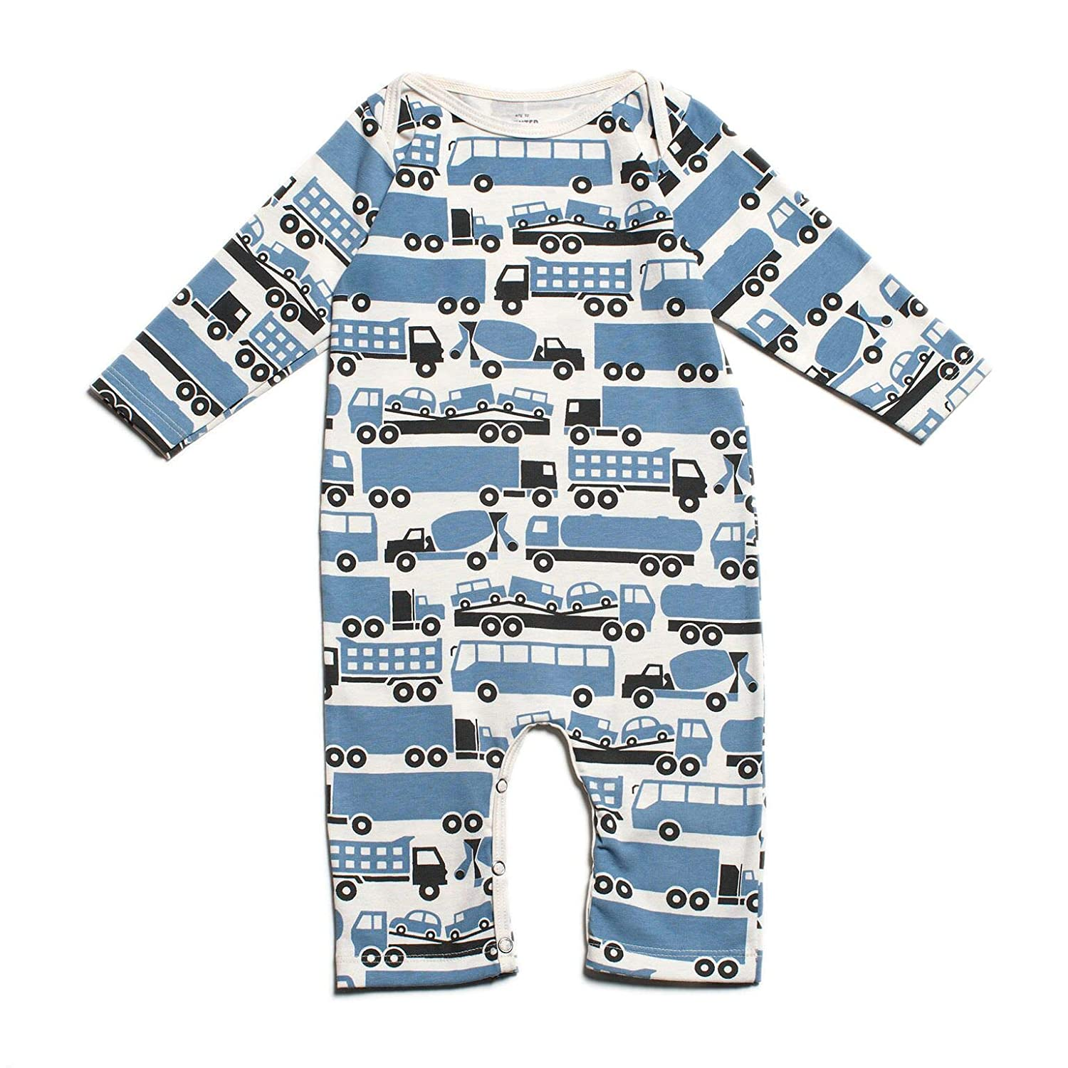 061416df5bc Amazon.com  Winter Water Factory Long Sleeve Organic Cotton Romper  Coverall