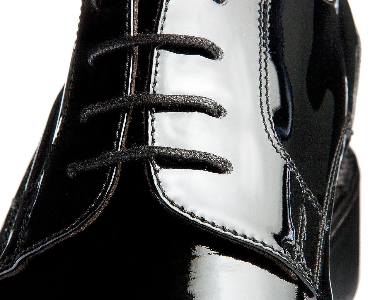 GuidoMaggi - Mocasines, elegantes, con alza de 7.5 cm - LEUCA - Negro - Talla 43 EU: Amazon.es: Zapatos y complementos