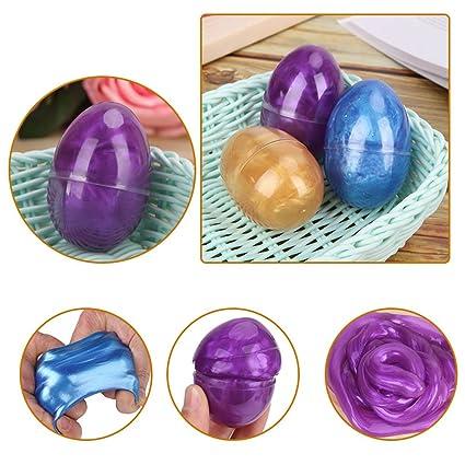 Amazon.com: chige arcilla juguetes, vidrio Fluffy Slime ...