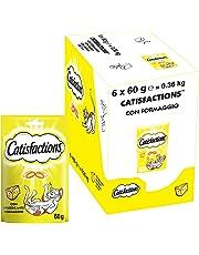 CATISFACTIONS Friandises au Fromage pour Chat et Chaton, 6 Sachets de 60g
