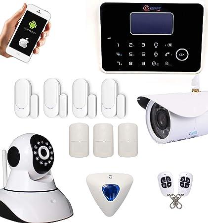 G6 – Alarma inalámbrica GSM y RTC con teclado y sirena déportés + cámaras IP HD