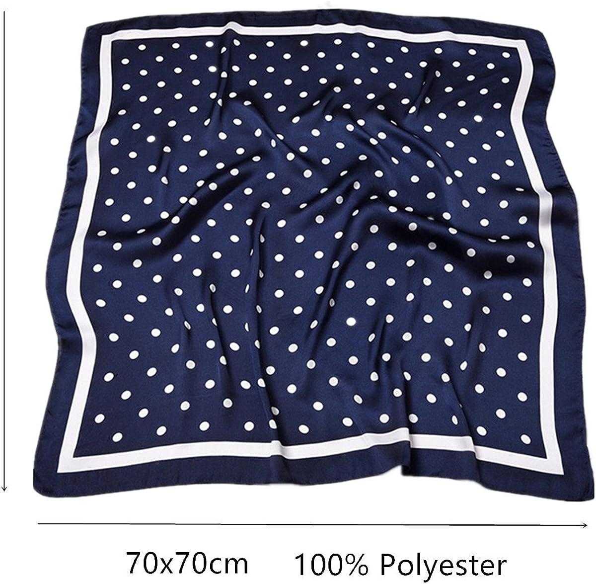 hidouyal grande Foulard quadrato poliestere Silk Like Quadretti Polka Dots 70/* 70/cm
