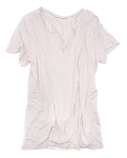 fa2ba245 American Eagle Women's Soft & Sexy Strappy Split-Neck T-Shirt W-14 (X-Small,  Pinkish 107) at Amazon Women's Clothing store: