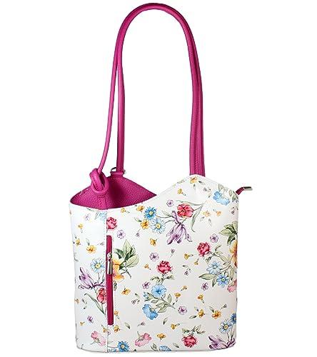 06afb2a660820 Freyday 2 in 1 Handtasche Rucksack Designer Luxus Henkeltasche aus  Echtleder in versch. Designs (