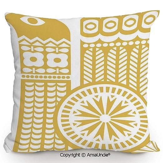 SCOXIXI Funda de Almohada Decorativa Cuadrada con algodón y ...