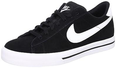 Nike Sweet Classic Leather Men's Casual Shoes, Black/White-White-Black,