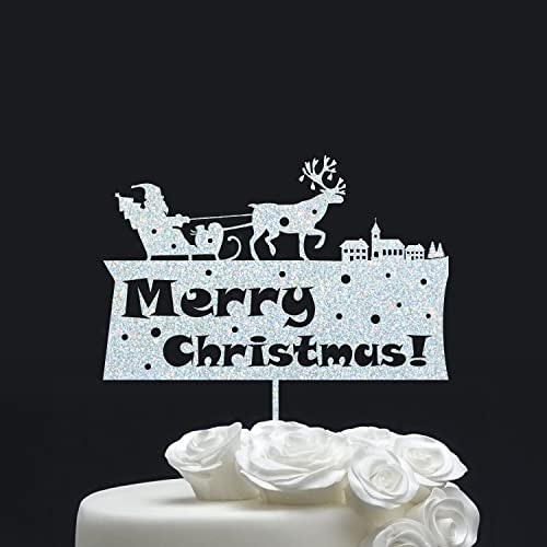 christmas cake topper gold cake topper cake decoration black cake topper - Christmas Cake Decorations Amazon
