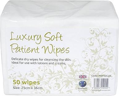 Lujo suave paciente seco toallitas de limpieza