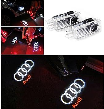 Pack de 2 luces LED para puerta de coche de la marca Hu Fun Life. Proyección láser 3D del logo. Iluminación de bienvenida: Amazon.es: Coche y moto
